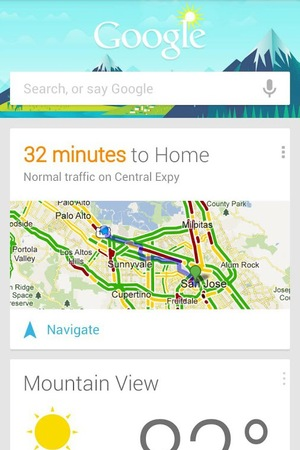 'Google Now' Android app