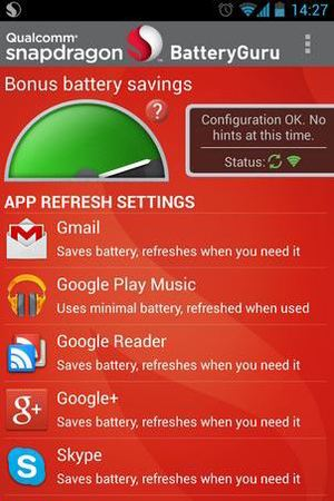 Snapdragon BatteryGuru on Android