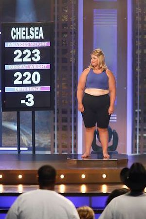 Chelsea's weigh in during The Biggest Loser Season 15, Episode 3