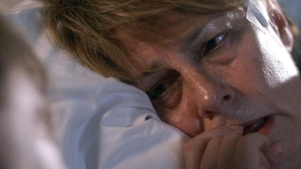 Karen distraught at the hospital