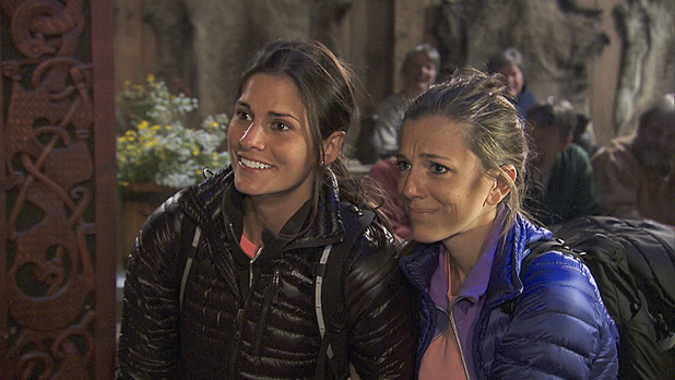 Nicole and Kim arrive at the Pit Stop in The Amazing Race: 'Get Our Groove On'