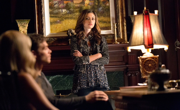 Claire Holt as Rebekah, Joseph Morgan as Klaus, and Phoebe Tonkin as Hayley in The Originals: 'Sinners and Saints'