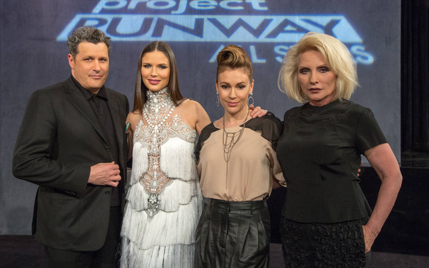 Isaac Mizrahi, Georgina Chapman, Alyssa Milano and guest judge Debbie Harry judge the season premiere if 'Project Runway: All Stars'