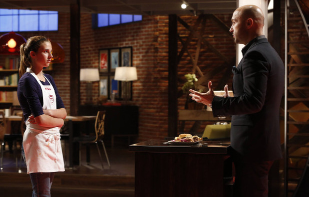 Contestant Molly and Judge Bastianich on 'MasterChef Junior'