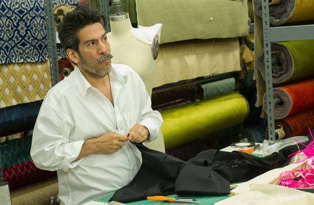 Daniel Esquivel works on his design during the season premiere if 'Project Runway: All Stars'