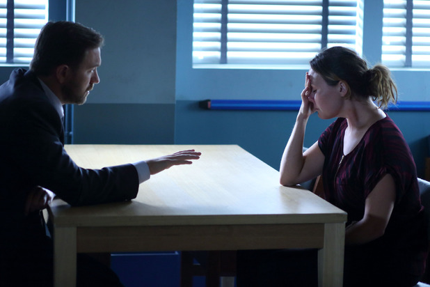 Janine is questioned by the police