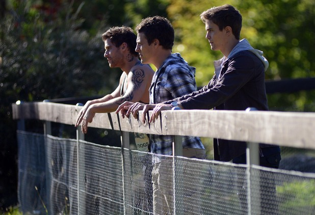 Brax, Heath and Kyle prepare to take action.