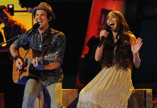 Alex & Sierra perform on The X Factor USA first live show