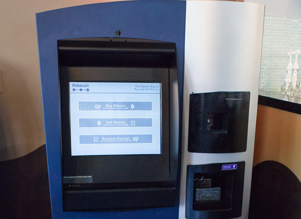 The world's first bitcoin ATM at Waves Coffee House in Vancouver, Canada
