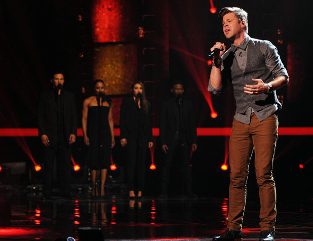James Kenney performs on The X Factor USA first live show
