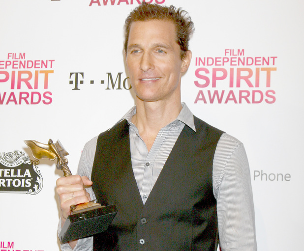 2013 Film Independent Spirit Awards at Santa Monica Beach - Press Room Matthew McConaughey