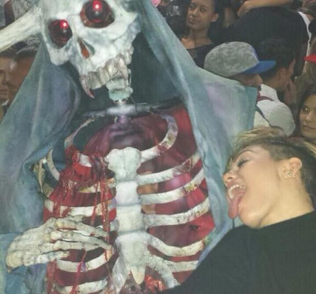 Miley Cyrus celebrates Halloween