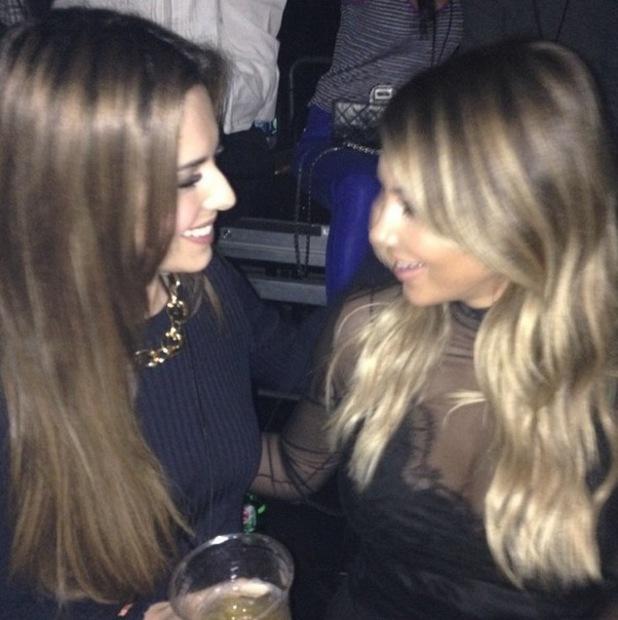 Cheryl Cole and Kim Kardashian share a joke