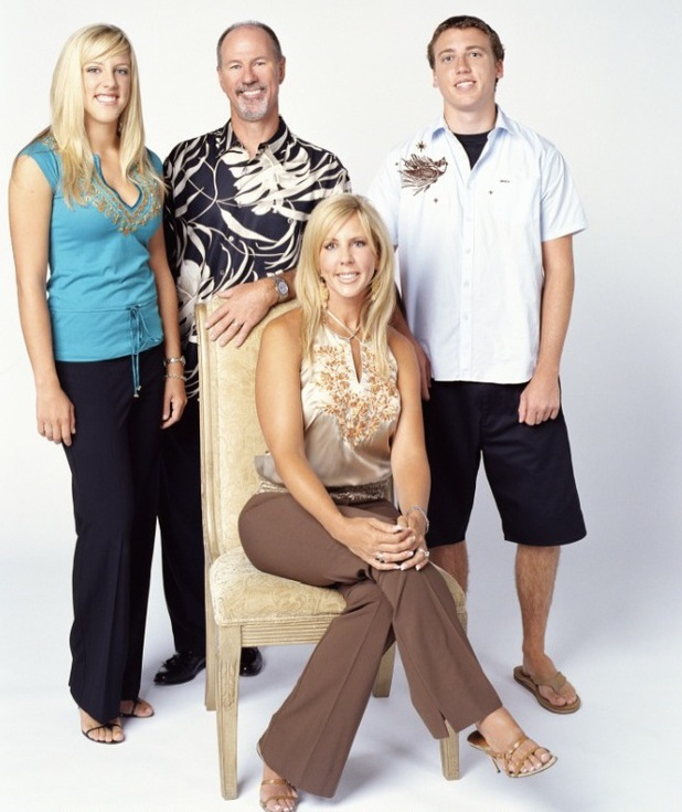 Vicki Gunvalson with her family