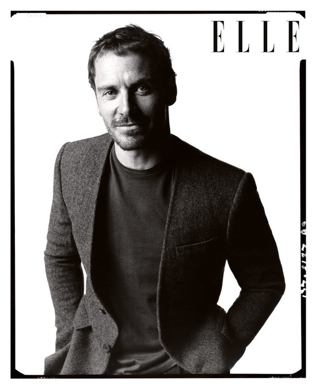 Michael Fassbender in the December issue of Elle UK