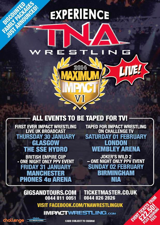TNA Wrestling UK PPV poster