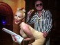 Hugh Hefner wife wears Miley costume