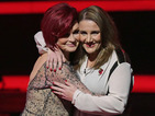X Factor: Sam Bailey goes swinging in Sharon Osbourne's garden - video