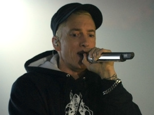 Eminem performing at the YouTube Music Awards