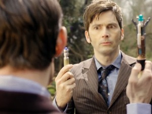 Matt Smith and David Tennant in 'The Day of the Doctor'