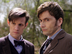 Doctor Who 50th: Matt Smith and David Tennant in 'The Day of the Doctor'