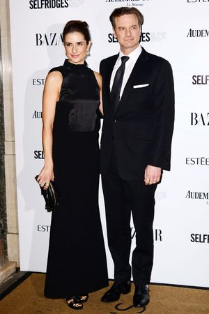Harpers Bazaar 'Woman of the Year' awards 2013, London, Britain - 05 Nov 2013 Livia Giuggioli, Colin Firth
