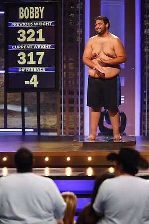 Bobby's weigh-in during episode 4 of The Biggest Loser