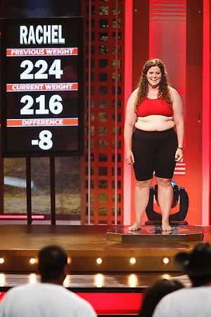 Rachel's weigh-in during episode 4 of The Biggest Loser