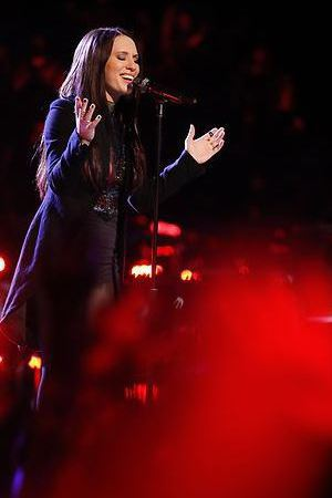 Kat Robichaud performs on The Voice live shows, part 2