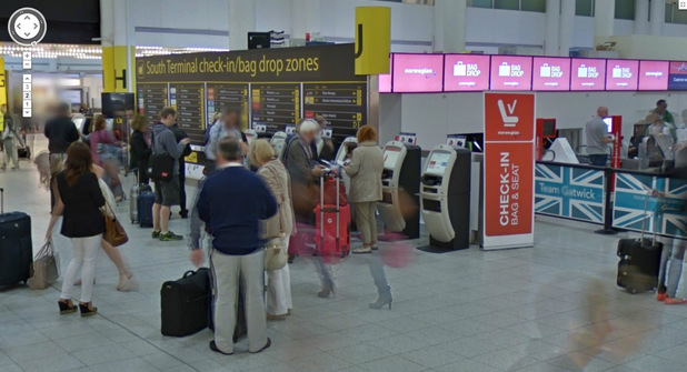 Gatwick Airport on Google Street View