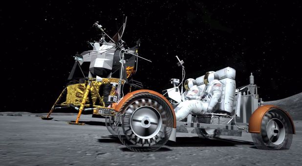The moon lander from Gran Turismo 6 trailer