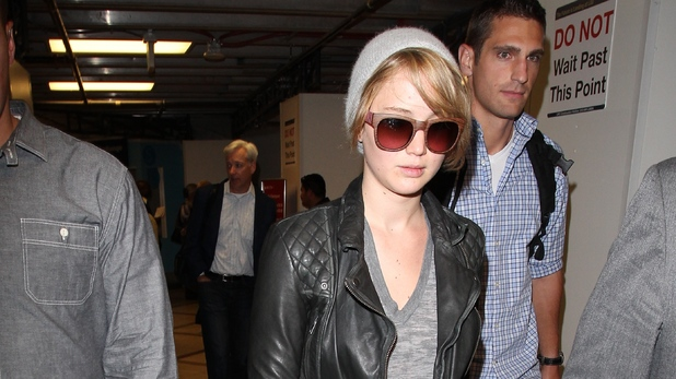 Jennifer Lawrence arrives at Los Angeles International LAX airport