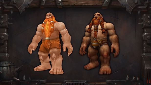 World of Warcraft: Warlords of Draenor updated character models (Dwarves)