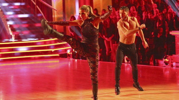 Week 8 of 'Dancing With The Stars' Fall 2013: Elizabeth Berkley and Val Chmerkovskiy