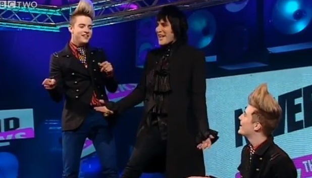 Jedward, Noel Fielding, Never Mind the Buzzcocks