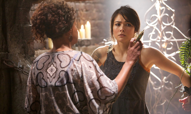 Karen Livers as Agnes and Daniella Pineda as Sophie in The Originals episode 6: 'Fruit of the Poisoned Tree'