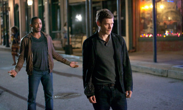 Charles Michael Davis as Marcel and Joseph Morgan as Klaus in The Originals episode 6: 'Fruit of the Poisoned Tree'