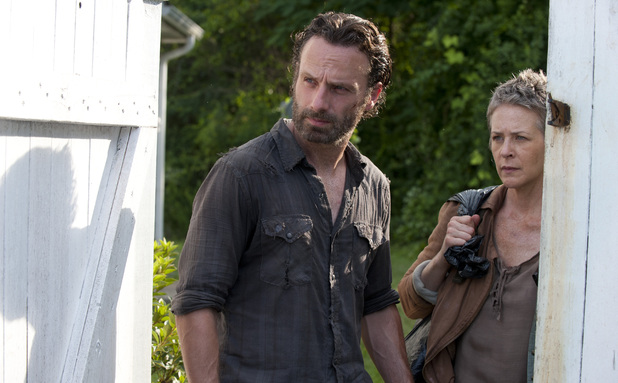 Rick Grimes (Andrew Lincoln) and Carol (Melissa Suzanne McBride) in The Walking Dead Season 4, Episode 4: 'Indifference'