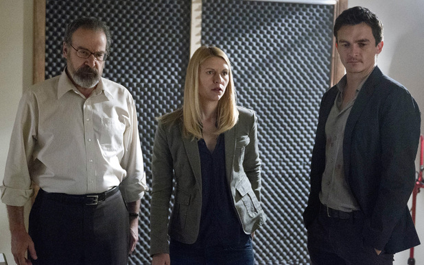 Mandy Patinkin as Saul Berenson, Claire Danes as Carrie Mathison and Rupert Friend as Peter Quinn in Homeland episode 6: 'Still Positive'
