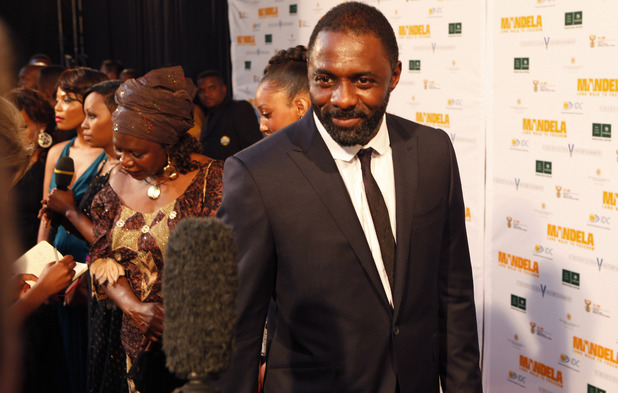 Idris Elba at the South African premiere of 'Mandela: Long Walk To Freedom'