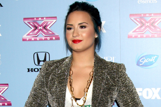 Demi Lovato USA's X Factor Top 12 Party for Season 3 at the SLS Hotel in Beverley Hills