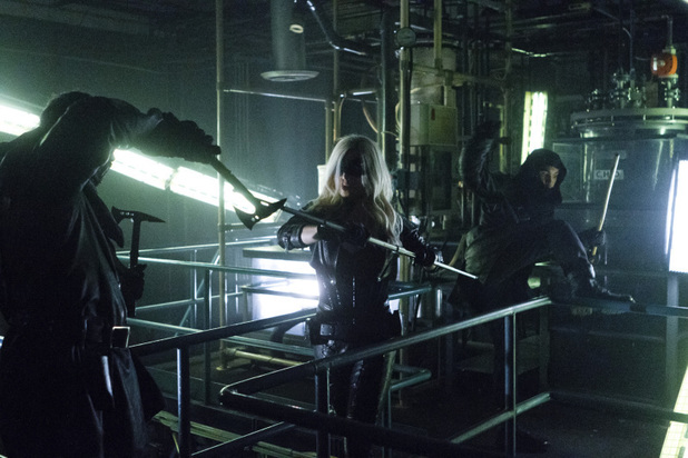 Caity Lotz as Canary in 'Arrow' S02E05: 'League of Assassins'