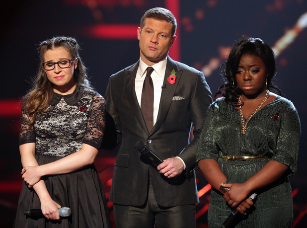 Abi and Hannah wait for the judges decision.