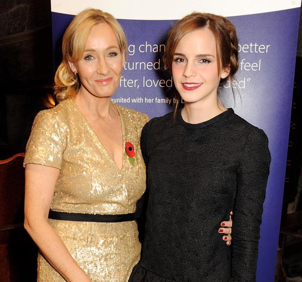 Emma Watson and J.K. Rowling