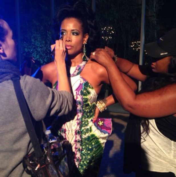 Kelis shoots 'Rumble' music video