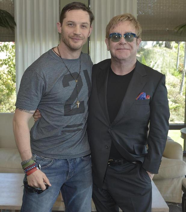Tom Hardy and Elton John in 'Rocketman' picture