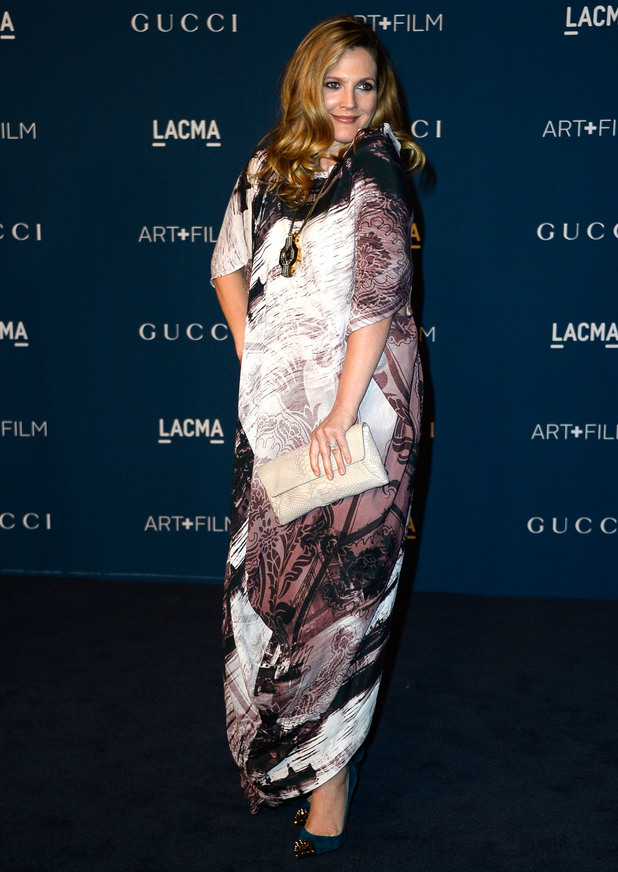 Drew Barrymore arrives at the LACMA 2013 Gala