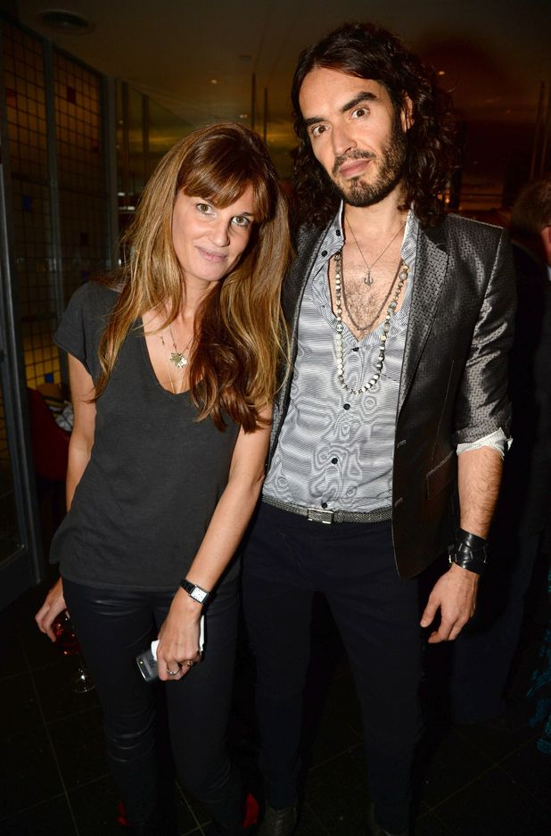 Russell Brand and Jemima Khan at the 'Unmanned: America's Drone Wars' documentary screening, London
