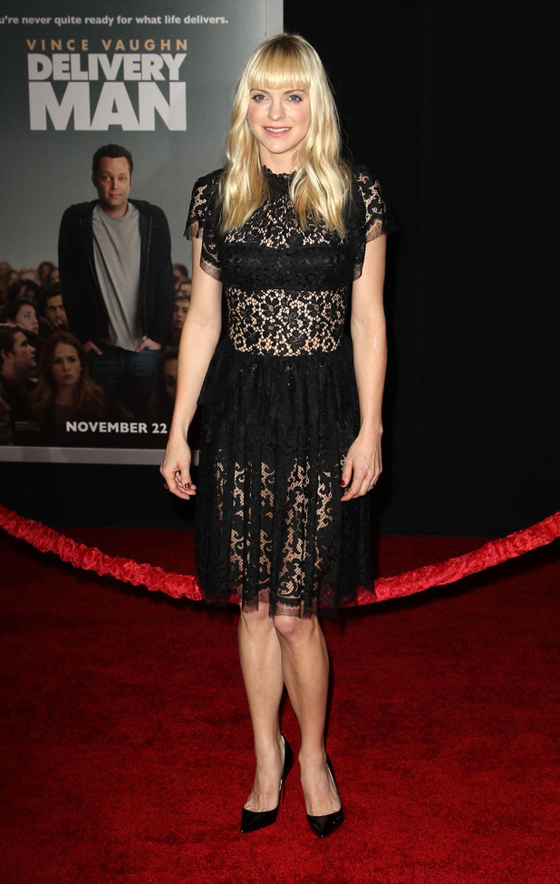 Anna Faris, premiere of DreamWorks Pictures' 'Delivery Man'