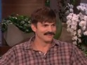 Ashton Kutcher reveals that he has trouble growing facial hair.